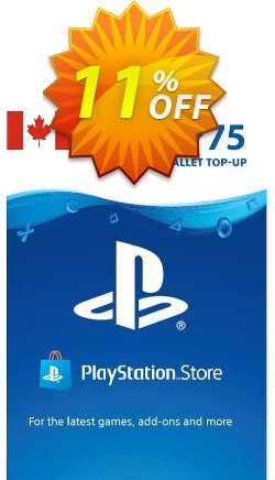 PlayStation Network - PSN Card - 75 CAD - CANADA  Coupon discount PlayStation Network (PSN) Card - 75 CAD (CANADA) Deal 2021 CDkeys. Promotion: PlayStation Network (PSN) Card - 75 CAD (CANADA) Exclusive Sale offer for iVoicesoft