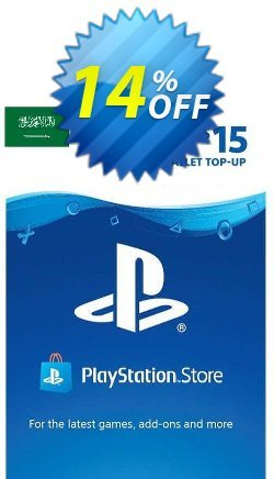 PlayStation Network - PSN Card - 15 USD - KSA  Coupon discount PlayStation Network (PSN) Card - 15 USD (KSA) Deal 2021 CDkeys. Promotion: PlayStation Network (PSN) Card - 15 USD (KSA) Exclusive Sale offer for iVoicesoft