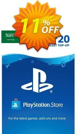 PlayStation Network - PSN Card - 20 USD - KSA  Coupon discount PlayStation Network (PSN) Card - 20 USD (KSA) Deal 2021 CDkeys. Promotion: PlayStation Network (PSN) Card - 20 USD (KSA) Exclusive Sale offer for iVoicesoft