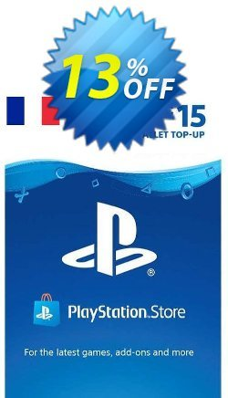 PlayStation Network - PSN Card - 15 EUR - FRANCE  Coupon discount PlayStation Network (PSN) Card - 15 EUR (FRANCE) Deal 2021 CDkeys. Promotion: PlayStation Network (PSN) Card - 15 EUR (FRANCE) Exclusive Sale offer for iVoicesoft