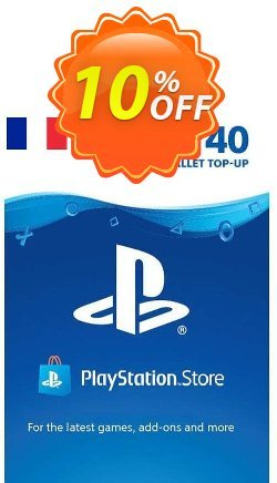 PlayStation Network - PSN Card - 40 EUR - FRANCE  Coupon discount PlayStation Network (PSN) Card - 40 EUR (FRANCE) Deal 2021 CDkeys. Promotion: PlayStation Network (PSN) Card - 40 EUR (FRANCE) Exclusive Sale offer for iVoicesoft