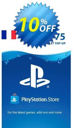 PlayStation Network - PSN Card - 75 EUR - FRANCE  Coupon discount PlayStation Network (PSN) Card - 75 EUR (FRANCE) Deal 2021 CDkeys. Promotion: PlayStation Network (PSN) Card - 75 EUR (FRANCE) Exclusive Sale offer for iVoicesoft