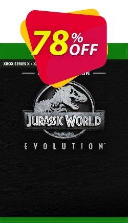 Jurassic World Evolution - Deluxe Bundle Xbox One - UK  Coupon discount Jurassic World Evolution - Deluxe Bundle Xbox One (UK) Deal 2021 CDkeys. Promotion: Jurassic World Evolution - Deluxe Bundle Xbox One (UK) Exclusive Sale offer for iVoicesoft