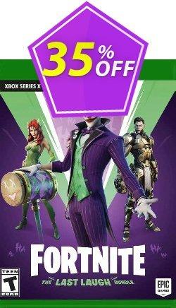 Fortnite: The Last Laugh Bundle Xbox One - UK  Coupon discount Fortnite: The Last Laugh Bundle Xbox One (UK) Deal 2021 CDkeys. Promotion: Fortnite: The Last Laugh Bundle Xbox One (UK) Exclusive Sale offer for iVoicesoft