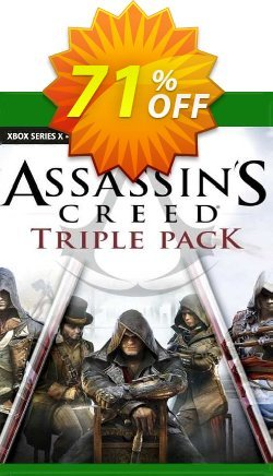 Assassin's Creed Triple Pack: Black Flag, Unity, Syndicate Xbox One - UK  Coupon discount Assassin's Creed Triple Pack: Black Flag, Unity, Syndicate Xbox One (UK) Deal 2021 CDkeys. Promotion: Assassin's Creed Triple Pack: Black Flag, Unity, Syndicate Xbox One (UK) Exclusive Sale offer for iVoicesoft