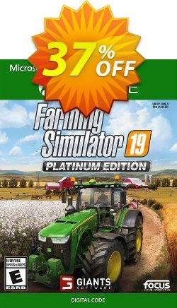 Farming Simulator 19 - Platinum Edition Xbox One - US  Coupon discount Farming Simulator 19 - Platinum Edition Xbox One (US) Deal 2021 CDkeys - Farming Simulator 19 - Platinum Edition Xbox One (US) Exclusive Sale offer for iVoicesoft