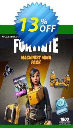 Fortnite - Machinist Mina Pack Xbox One - EU  Coupon discount Fortnite - Machinist Mina Pack Xbox One (EU) Deal 2021 CDkeys. Promotion: Fortnite - Machinist Mina Pack Xbox One (EU) Exclusive Sale offer for iVoicesoft