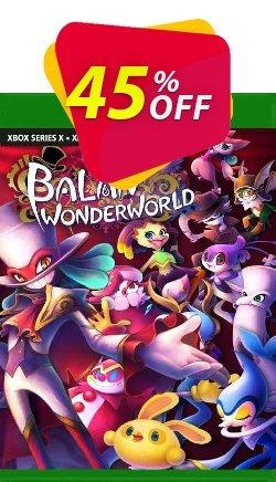 Balan Wonderworld Xbox One - UK  Coupon discount Balan Wonderworld Xbox One (UK) Deal 2021 CDkeys. Promotion: Balan Wonderworld Xbox One (UK) Exclusive Sale offer for iVoicesoft