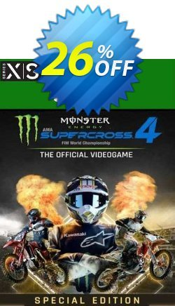 Monster Energy Supercross 4 Special Edition Xbox Series X|S - UK  Coupon discount Monster Energy Supercross 4 Special Edition Xbox Series X|S (UK) Deal 2021 CDkeys. Promotion: Monster Energy Supercross 4 Special Edition Xbox Series X|S (UK) Exclusive Sale offer for iVoicesoft
