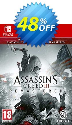 Assassin's Creed III Remastered Switch - EU  Coupon discount Assassin's Creed III Remastered Switch (EU) Deal 2021 CDkeys. Promotion: Assassin's Creed III Remastered Switch (EU) Exclusive Sale offer for iVoicesoft