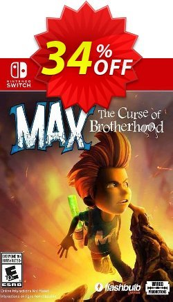 Max: The Curse of Brotherhood Switch - EU  Coupon discount Max: The Curse of Brotherhood Switch (EU) Deal 2021 CDkeys. Promotion: Max: The Curse of Brotherhood Switch (EU) Exclusive Sale offer for iVoicesoft