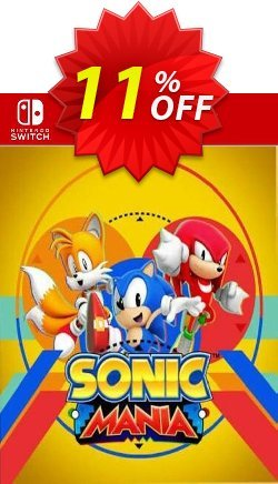 Sonic Mania Switch - EU  Coupon discount Sonic Mania Switch (EU) Deal 2021 CDkeys. Promotion: Sonic Mania Switch (EU) Exclusive Sale offer for iVoicesoft