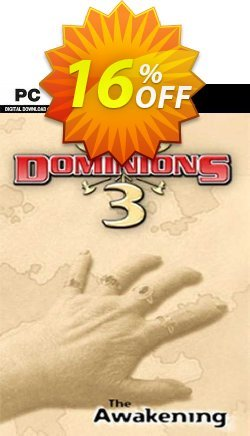 Dominions 3 The Awakening PC Coupon discount Dominions 3 The Awakening PC Deal. Promotion: Dominions 3 The Awakening PC Exclusive offer for iVoicesoft