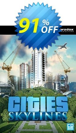 Cities: Skylines PC/Mac Coupon, discount Cities: Skylines PC/Mac Deal. Promotion: Cities: Skylines PC/Mac Exclusive offer for iVoicesoft