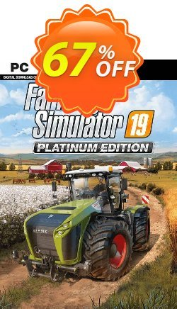 Farming Simulator 19 - Platinum Edition PC Coupon discount Farming Simulator 19 - Platinum Edition PC Deal. Promotion: Farming Simulator 19 - Platinum Edition PC Exclusive offer for iVoicesoft