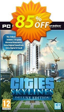 Cities Skylines Deluxe Edition PC/Mac Coupon, discount Cities Skylines Deluxe Edition PC/Mac Deal. Promotion: Cities Skylines Deluxe Edition PC/Mac Exclusive offer for iVoicesoft