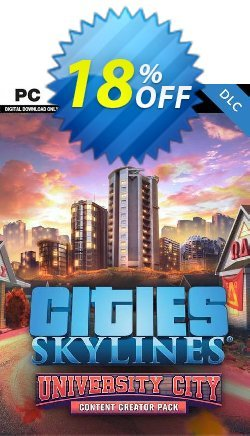 Cities Skylines PC - Content Creator Pack University City DLC Coupon discount Cities Skylines PC - Content Creator Pack University City DLC Deal - Cities Skylines PC - Content Creator Pack University City DLC Exclusive offer for iVoicesoft