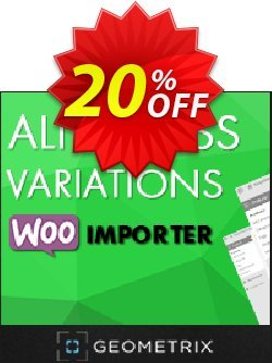 Aliexpress Variations WooImporter - Add-on  Coupon discount Aliexpress Variations WooImporter. Add-on for WooImporter. Big deals code 2021. Promotion: Big deals code of Aliexpress Variations WooImporter. Add-on for WooImporter. 2021