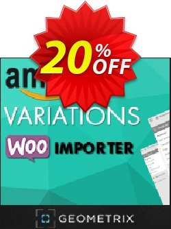 Amazon Variations WooImporter - Add-on  Coupon, discount Amazon Variations WooImporter. Add-on for WooImporter. Stirring sales code 2020. Promotion: Stirring sales code of Amazon Variations WooImporter. Add-on for WooImporter. 2020