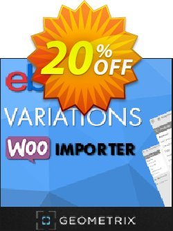 eBay Variations WooImporter - Add-on  Coupon, discount eBay Variations WooImporter. Add-on for WooImporter. Formidable offer code 2020. Promotion: Formidable offer code of eBay Variations WooImporter. Add-on for WooImporter. 2020