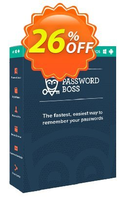 Password Boss Premium Annual Coupon, discount Password Boss Premium Annual Subscription Super deals code 2020. Promotion: Super deals code of Password Boss Premium Annual Subscription 2020