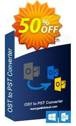 Gael Converter for OST Coupon, discount Coupon code Gael Converter for OST - Standard License. Promotion: Gael Converter for OST - Standard License offer from BitRecover
