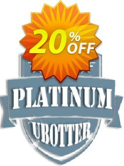 UBotter Platinum Licensing Coupon, discount UBotter Platinum Licensing Big deals code 2021. Promotion: Big deals code of UBotter Platinum Licensing 2021