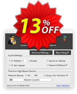 Hide My IP for Mac Coupon, discount Hide My IP for Mac Exclusive offer code 2021. Promotion: Exclusive offer code of Hide My IP for Mac 2021