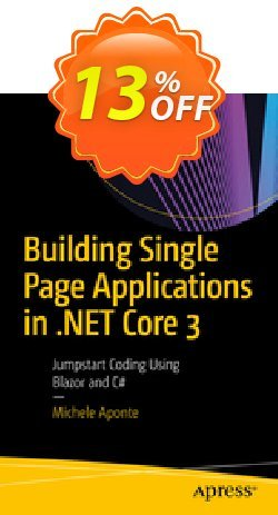 Building Single Page Applications in .NET Core 3 - Aponte  Coupon, discount Building Single Page Applications in .NET Core 3 (Aponte) Deal. Promotion: Building Single Page Applications in .NET Core 3 (Aponte) Exclusive Easter Sale offer for iVoicesoft
