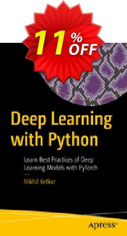 Deep Learning with Python - Ketkar  Coupon, discount Deep Learning with Python (Ketkar) Deal. Promotion: Deep Learning with Python (Ketkar) Exclusive Easter Sale offer for iVoicesoft