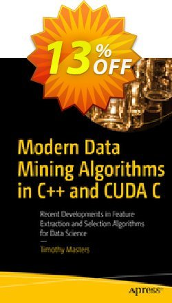 Modern Data Mining Algorithms in C++ and CUDA C - Masters  Coupon, discount Modern Data Mining Algorithms in C++ and CUDA C (Masters) Deal. Promotion: Modern Data Mining Algorithms in C++ and CUDA C (Masters) Exclusive Easter Sale offer for iVoicesoft