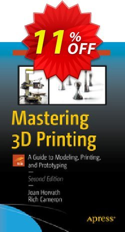 Mastering 3D Printing - Horvath  Coupon, discount Mastering 3D Printing (Horvath) Deal. Promotion: Mastering 3D Printing (Horvath) Exclusive Easter Sale offer for iVoicesoft