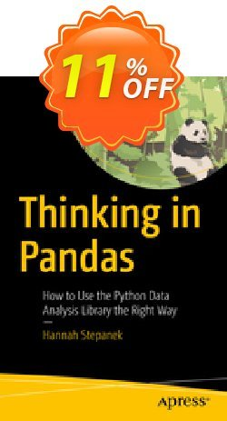 Thinking in Pandas - Stepanek  Coupon, discount Thinking in Pandas (Stepanek) Deal. Promotion: Thinking in Pandas (Stepanek) Exclusive Easter Sale offer for iVoicesoft