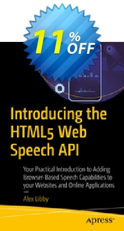 Introducing the HTML5 Web Speech API - Libby  Coupon, discount Introducing the HTML5 Web Speech API (Libby) Deal. Promotion: Introducing the HTML5 Web Speech API (Libby) Exclusive Easter Sale offer for iVoicesoft