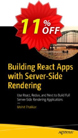 Building React Apps with Server-Side Rendering - Thakkar  Coupon, discount Building React Apps with Server-Side Rendering (Thakkar) Deal. Promotion: Building React Apps with Server-Side Rendering (Thakkar) Exclusive Easter Sale offer for iVoicesoft