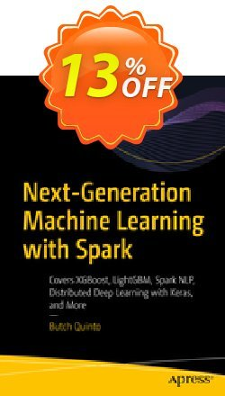 Next-Generation Machine Learning with Spark - Quinto  Coupon, discount Next-Generation Machine Learning with Spark (Quinto) Deal. Promotion: Next-Generation Machine Learning with Spark (Quinto) Exclusive Easter Sale offer for iVoicesoft