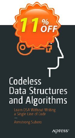 Codeless Data Structures and Algorithms - Subero  Coupon, discount Codeless Data Structures and Algorithms (Subero) Deal. Promotion: Codeless Data Structures and Algorithms (Subero) Exclusive Easter Sale offer for iVoicesoft