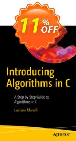 Introducing Algorithms in C - Manelli  Coupon, discount Introducing Algorithms in C (Manelli) Deal. Promotion: Introducing Algorithms in C (Manelli) Exclusive Easter Sale offer for iVoicesoft