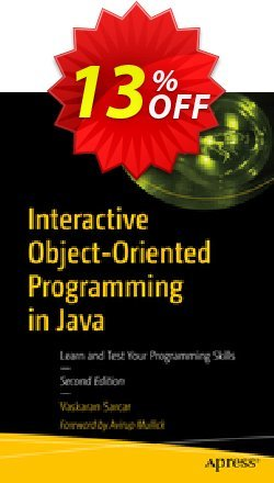 Interactive Object-Oriented Programming in Java - Sarcar  Coupon, discount Interactive Object-Oriented Programming in Java (Sarcar) Deal. Promotion: Interactive Object-Oriented Programming in Java (Sarcar) Exclusive Easter Sale offer for iVoicesoft