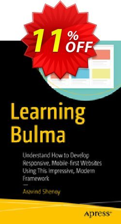 Learning Bulma - Shenoy  Coupon, discount Learning Bulma (Shenoy) Deal. Promotion: Learning Bulma (Shenoy) Exclusive Easter Sale offer for iVoicesoft
