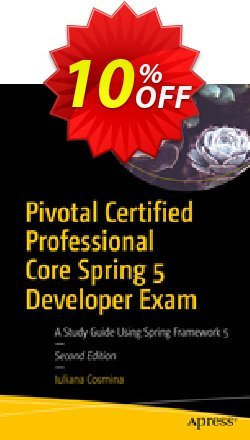 Pivotal Certified Professional Core Spring 5 Developer Exam - Cosmina  Coupon, discount Pivotal Certified Professional Core Spring 5 Developer Exam (Cosmina) Deal. Promotion: Pivotal Certified Professional Core Spring 5 Developer Exam (Cosmina) Exclusive Easter Sale offer for iVoicesoft