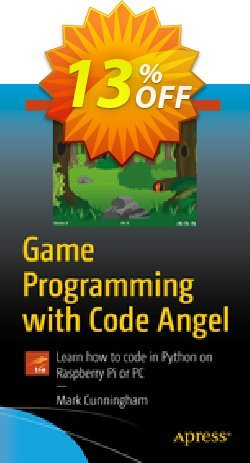 Game Programming with Code Angel - Cunningham  Coupon, discount Game Programming with Code Angel (Cunningham) Deal. Promotion: Game Programming with Code Angel (Cunningham) Exclusive Easter Sale offer for iVoicesoft