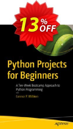 Python Projects for Beginners - Milliken  Coupon, discount Python Projects for Beginners (Milliken) Deal. Promotion: Python Projects for Beginners (Milliken) Exclusive Easter Sale offer for iVoicesoft
