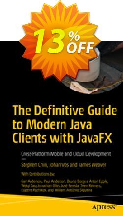 The Definitive Guide to Modern Java Clients with JavaFX - Chin  Coupon, discount The Definitive Guide to Modern Java Clients with JavaFX (Chin) Deal. Promotion: The Definitive Guide to Modern Java Clients with JavaFX (Chin) Exclusive Easter Sale offer for iVoicesoft