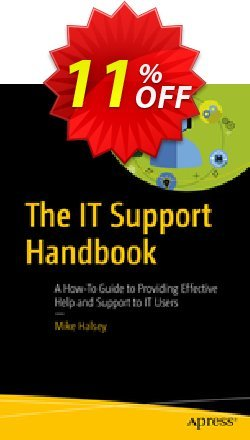 The IT Support Handbook - Halsey  Coupon, discount The IT Support Handbook (Halsey) Deal. Promotion: The IT Support Handbook (Halsey) Exclusive Easter Sale offer for iVoicesoft