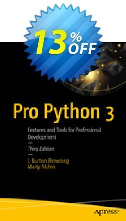 Pro Python 3 - Burton Browning  Coupon, discount Pro Python 3 (Burton Browning) Deal. Promotion: Pro Python 3 (Burton Browning) Exclusive Easter Sale offer for iVoicesoft