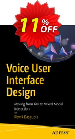 Voice User Interface Design - Dasgupta  Coupon discount Voice User Interface Design (Dasgupta) Deal - Voice User Interface Design (Dasgupta) Exclusive Easter Sale offer for iVoicesoft