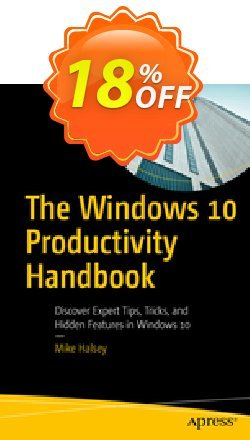 The Windows 10 Productivity Handbook - Halsey  Coupon discount The Windows 10 Productivity Handbook (Halsey) Deal - The Windows 10 Productivity Handbook (Halsey) Exclusive Easter Sale offer for iVoicesoft