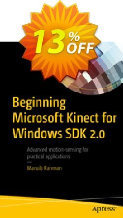 Beginning Microsoft Kinect for Windows SDK 2.0 - Rahman  Coupon, discount Beginning Microsoft Kinect for Windows SDK 2.0 (Rahman) Deal. Promotion: Beginning Microsoft Kinect for Windows SDK 2.0 (Rahman) Exclusive Easter Sale offer for iVoicesoft