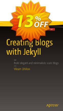 Creating Blogs with Jekyll - Dhillon  Coupon, discount Creating Blogs with Jekyll (Dhillon) Deal. Promotion: Creating Blogs with Jekyll (Dhillon) Exclusive Easter Sale offer for iVoicesoft